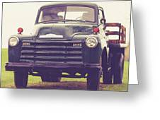Old Chevy Farm Truck In Vermont Square Greeting Card