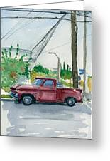 Old Chevy On Wallnut Greeting Card