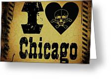 Old Chicago Greeting Card