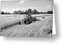 Old Combine Greeting Card