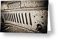 Old Dodge Grille Greeting Card