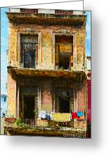 Old Havana Building Greeting Card