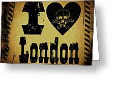 Old London Greeting Card