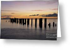 Old Naples Pier Greeting Card