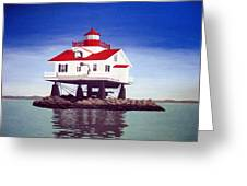 Old Plantation Flats Lighthouse Greeting Card