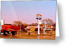 Old Signs At The Mother Road - Standard Oil And Motel - Route 66 Greeting Card