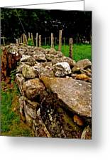 Old Stone Wall Greeting Card