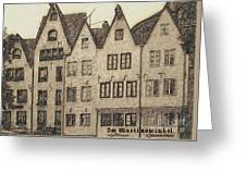 Old Town Of Cologne Greeting Card