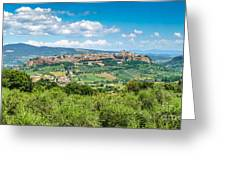 Old Town Of Orvieto, Umbria, Italy Greeting Card