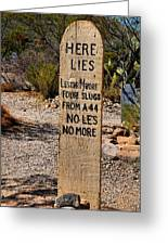 Old Tucson Graveyard Greeting Card