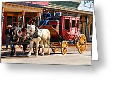 Old Tucson Stagecoach Greeting Card