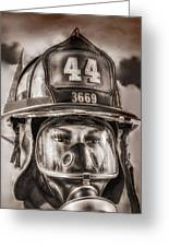 On Duty And Into Fire Greeting Card
