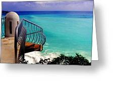On The Edge Greeting Card