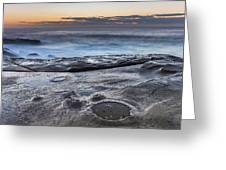 On The Ledge - Sunrise Seascape Greeting Card