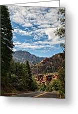 On The Road To Red Rocks  Greeting Card