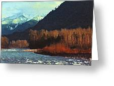 On The Squamish River 2223 Greeting Card