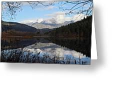 One Mile Lake Reflection Pemberton B.c Canada Greeting Card