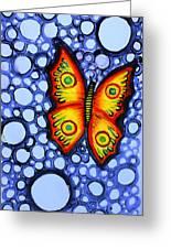 Orange Butterfly Greeting Card by Brenda Higginson