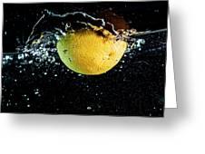 Orange Splashing In Water Greeting Card