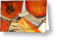 Orange Still Life Greeting Card