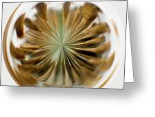 Orb Image Of A Dandelion Greeting Card
