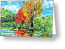 Reflection In The Wash  Greeting Card