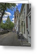 Oude Kerk In Delft Greeting Card