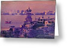 Our Lady Of Guadalope In Puerto Vallerta Mexico. Banderas Bay. Greeting Card