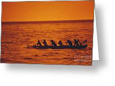 Outrigger Canoe Greeting Card