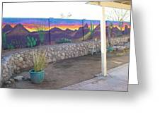 Outside Mural Greeting Card