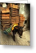 Overloaded Donkey Greeting Card