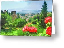 Overlooking Granada Greeting Card