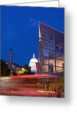 Overture Center On State Street In Madison Wisconsin Greeting Card