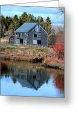 Owls Head Barn Greeting Card