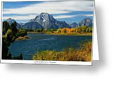 Oxbow Bend In Autumn Greeting Card by Greg Norrell
