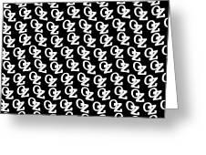 Oz Australia Black On White. Greeting Card