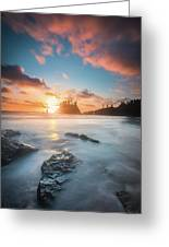Pacific Sunset At Olympic National Park Greeting Card