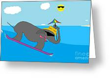 Surf Paddy Greeting Card