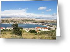 Pag Old Town In Croatia Greeting Card