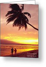 Palm Over The Beach Greeting Card