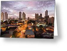 Panama City At Night Greeting Card