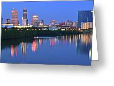 Panoramic Indianapolis Greeting Card