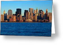 Panoramic Sunset View Of Lower Greeting Card