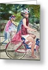 Parade Cyclers Greeting Card