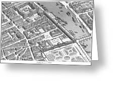 Paris 1730 Greeting Card