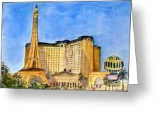 Paris Hotel And Casino Greeting Card