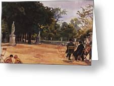 Paris The Luxembourg Park Zinaida Serebryakova Greeting Card