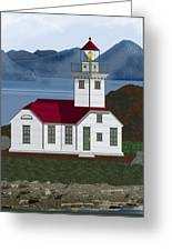 Patos Island Lighthouse Greeting Card
