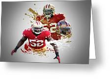 Patrick Willis 49ers Greeting Card