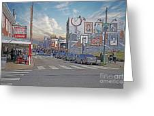 Pat's And Geno's Greeting Card by Jack Paolini